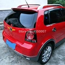 Для Volkswagen Polo 2006 2007 2008 2009 2010 задний багажник спойлер на крышу ABS пластик Неокрашенный праймер цвет украшение в виде хвостового крыла