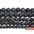 """Envío Libre de Piedra Natural de la Labradorita Negro Granos Redondos 15 """"capítulo 4 6 8 10 12 14 MM Tamaño de la Selección Para La Joyería No. AB61"""