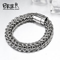 Beier  316L stainless steel bracelet Machine knitting High polish chain bracelet Fashion Jewelry BR-C021