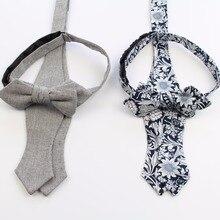 Mens Handmade Cotton Bowties Plain Self Tie Designer Flower
