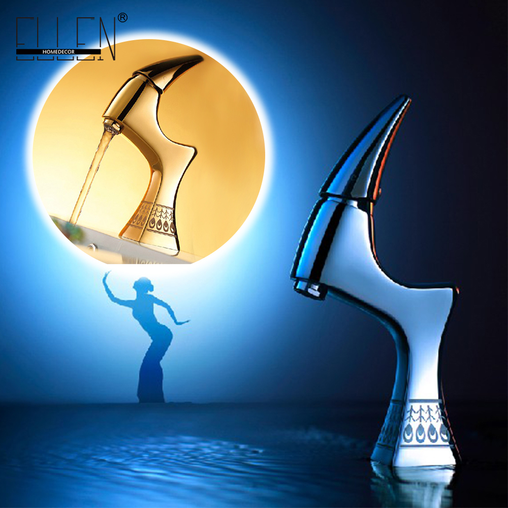 Bathroom Gold Faucet Hot and Cold Tap in Bathroom Sink Basin Faucet Wash Basin Mixer