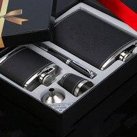 Russian Mini Hip Flaskes Set With 2 Wine Pots Pen Wine Cup Wine Leaks High Grade