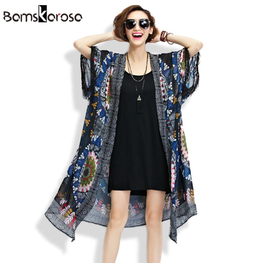 Bamskarosa Summer Blouses 2017 Women Hippie Boho Plus Size