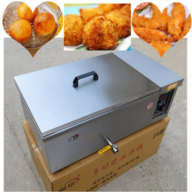 Deep fryer machine spiral potato twist frying machine