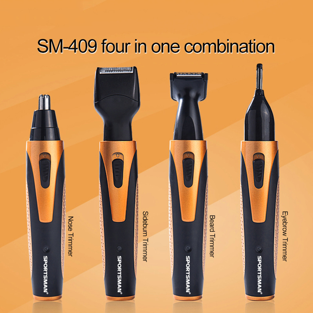 Trimmer EU Plug New Mustache And Beard Trimmer Set Hair Cut Clipper Kit Ear Nose Groomer Shaver DropShipping 2018a16
