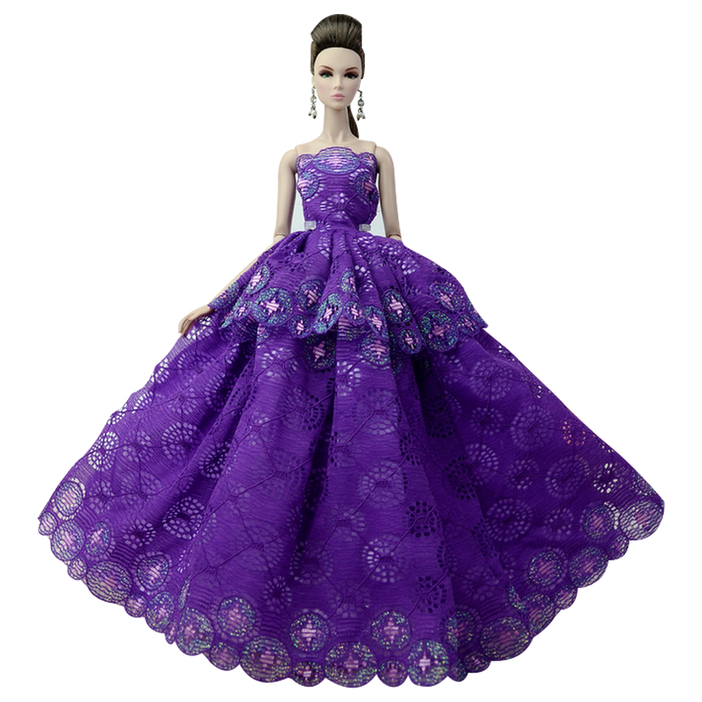 NK One Pcs 2018 Princess Wedding Dress Noble Party Gown For Barbie Doll Fashion Design Outfit Best Gift For Girl Doll 011D