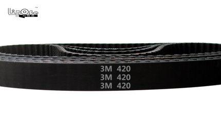 good quality HTD3M belt 420 HTD 3M timing belt teeth 140 width 8mm length 420mm rubber closed-loop belt 420-3M for shredder цена
