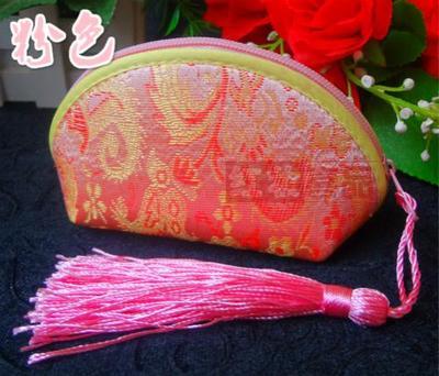 Маленькие подарочные пакеты с кисточками на молнии для ювелирных изделий, конфетная упаковка, высокое качество, китайский шелковый цветной чехол для хранения, 20 шт./партия
