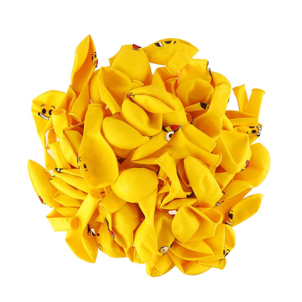 Yellow Emoji Balloons 10 pieces 4