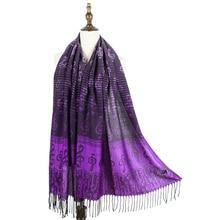 jzhifiyer scarf mujer music note G-clefs classic Jacquard pashmina shawl wrap winter woven shawls bandana capes