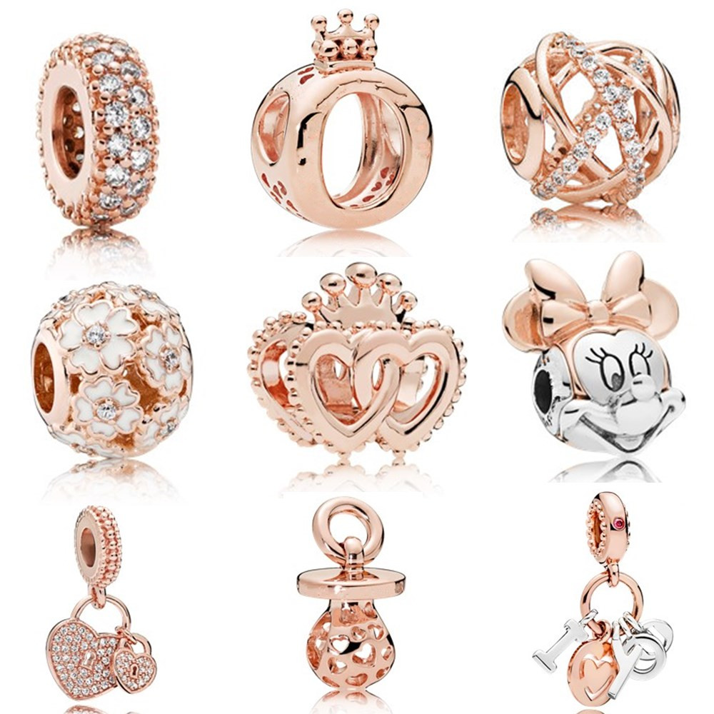 AIFEILI Charm Girl Personality Bead Pendant Necklace DIY Suitable For Pandora Bracelet Jewelry Europe Cupid Arrow Bee 1Pieces