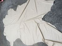 Beige soft Genuine calf skin leather raw material sale by whole piece