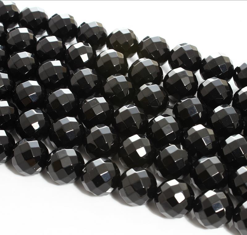 Onyx Round Beads 4mm Black 95 Pcs Gemstones DIY Jewellery Making Crafts