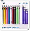 Batería toque EVOD para cigarrillo electrónico EVOD batería para E-Cigarette Kits 650 mAh ~ 1100 mAh batería voltaje Variable