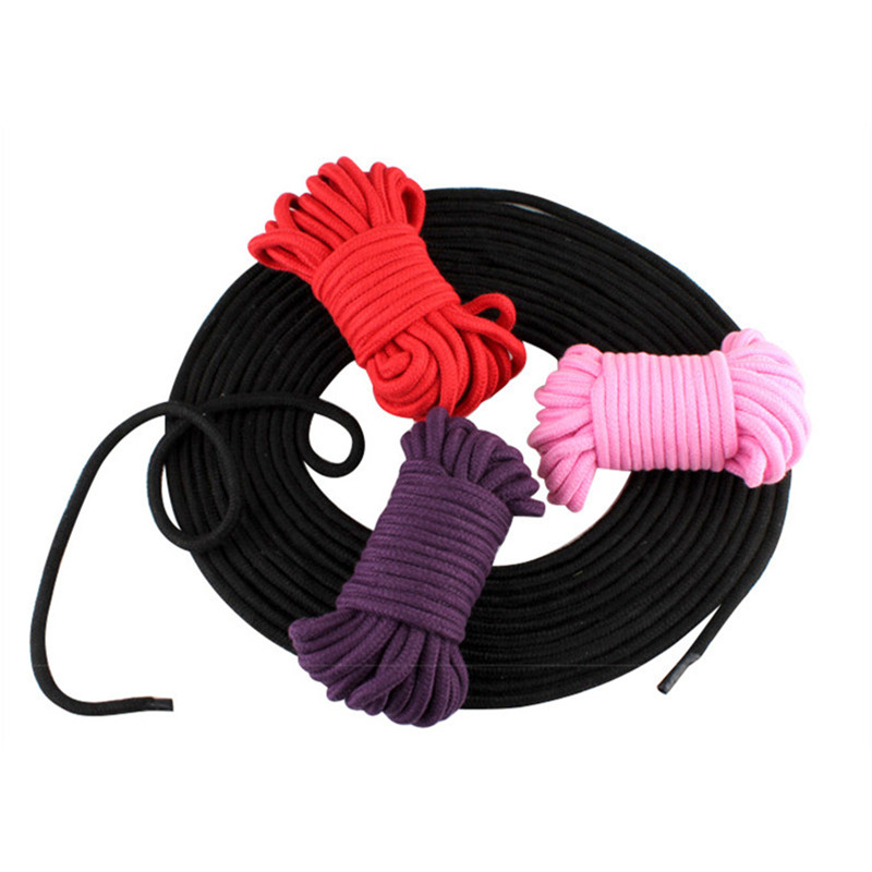 5M BDSM Bondage Shibari Rope 100% Cotton Body Tied Ropes Exotic Accessories BDSM Adult Slave Tying Sex Torture Games Rope to Tie