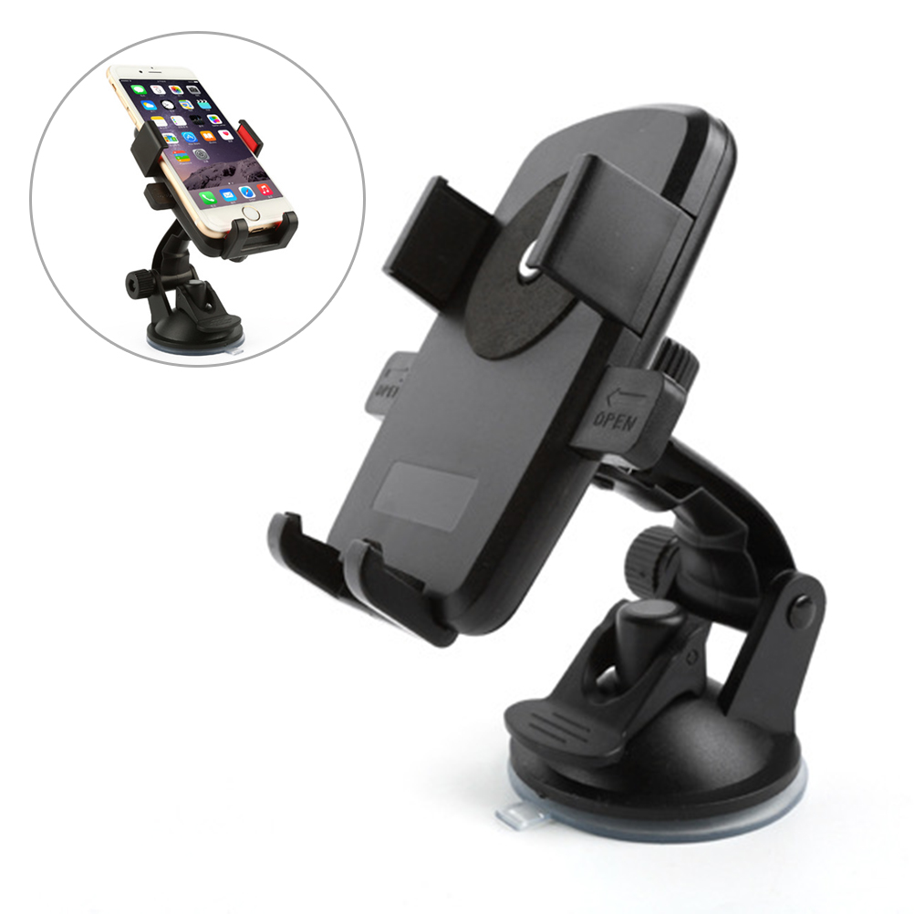 Samsung Slip Free Desk Phone Stand Compatible with iPhone Car Phone Mount Silicone Car Pad Mat for Various Dashboards Black GPS Devices and More Android Smartphones Loncaster Car Phone Holder