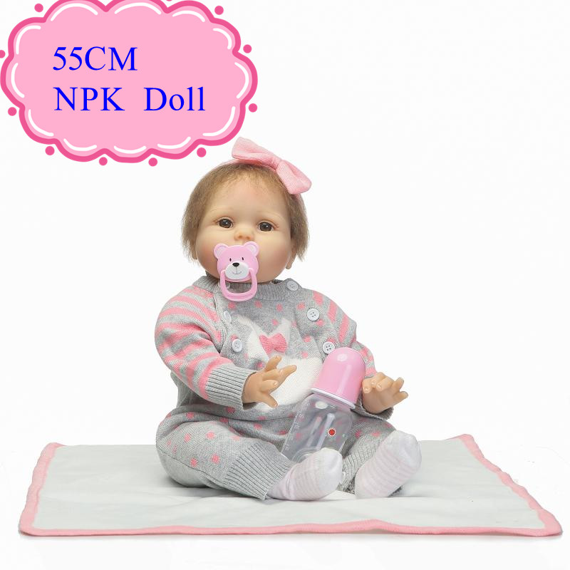 Popular 55cm Realistic Baby Doll With Soft Baby Body About 22inch  Baby Simulation Doll For Sale With Good Price Hot Kids Gifts