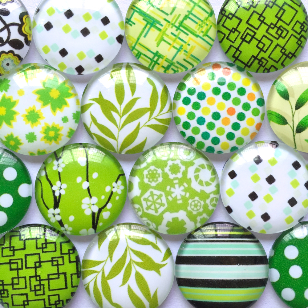 ZEROUP Round Glass Cabochon 12mm 20mm Mixed Pattern Handmade Diy Embellishments Supplies For Jewelry Clasps Craft TP-385