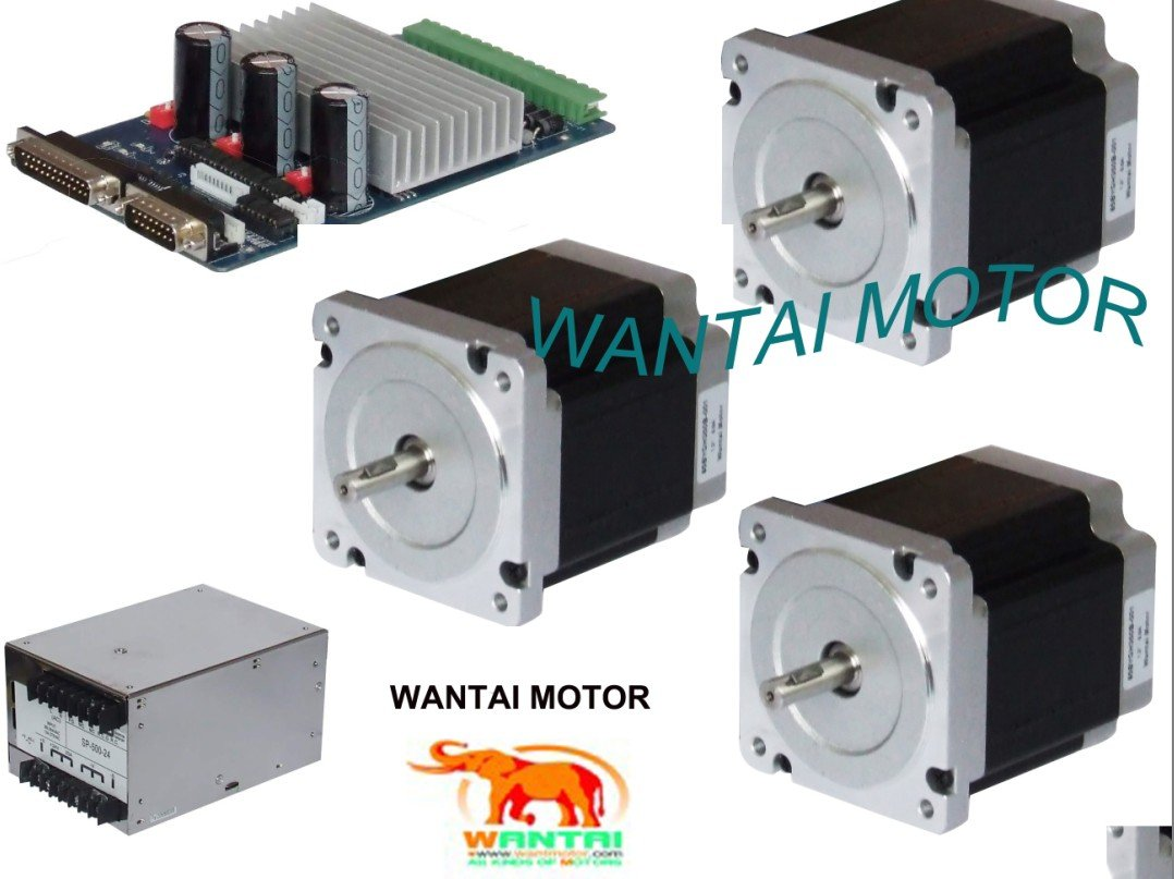 3 Axis Nema 34 Wantai Stepper Motor with 892OZ-In CNC Foam Mill Kit 4 axis cnc kit 8 5nm 1204oz in nema 34 stepper motor