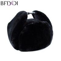 BFDADI 2017 nieuwe mode muts gehoorbeschermingsmiddel cap bomber hoeden voor mannen cap winddicht Russische hoeden warme muts Gratis verzending