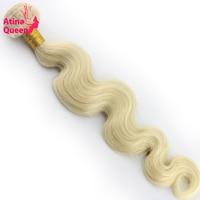 Atina Queen Body Wave 613 Blonde Platinum Color Brazilian Hair Weave Bundles 10 28inch 1pc 100