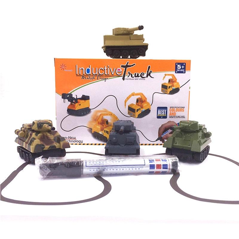 Shineheng Hot Sale 1 Piece Magic Toy Tank Inductive Car Magia Excavator Construction Cars Truck