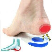 Мягкие силиконовые гелевые стельки для пяточная шпора боль в ноге Подушка массажер для ног уход за половину пятки стелька вкладыш, визуальн...