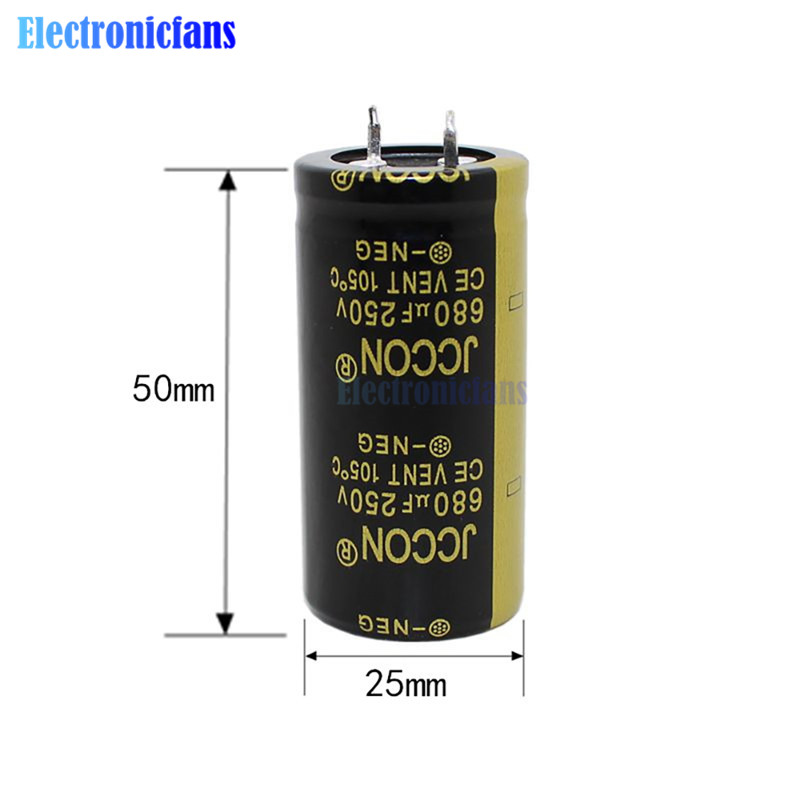 250V 680uF 25X50mm Aluminum Electrolytic Capacitor High Frequency Low ESR 250V680uF 25*50mm Through Hole Capacitor