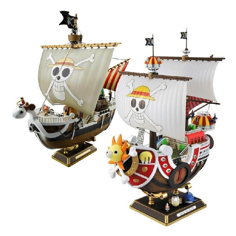 35cm Anime One Piece Thousand Sunny & Meryl Boat Pirate ship Figure PVC Action Figure Toys Collectible Model Toy Christmas Gifts anime one piece dracula mihawk model garage kit pvc action figure classic collection toy doll