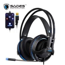 SADES Diablo Realtek Headphones Virtual 7 1 Surround Sound font b Headset b font Volume and