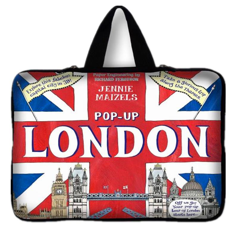 New 15.6 England Flag Laptop Bag Sleeve Iiner Pouch Zipper Neoprene Carry Bags For 15 15.4 15.6 Notebook Laptop Computer