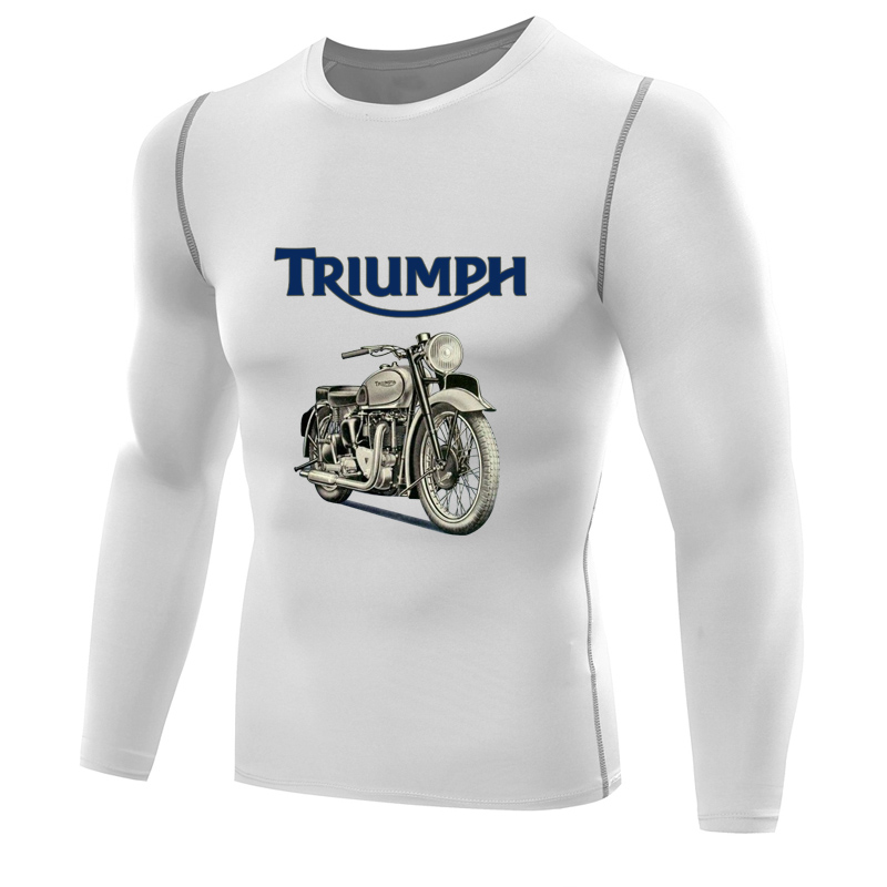 Triumph T Shirt >> triumph t shirt for men compression shirt long sleeve motorcycle clothing jersey t shirt boys ...