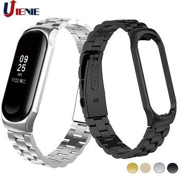 Mi Band 3 Wrist Strap Metal Stainless Steel Wristband for Xiaomi Mi Band 4 Bracelet Miband 3 Watchband Pulseira Miband4 Strap