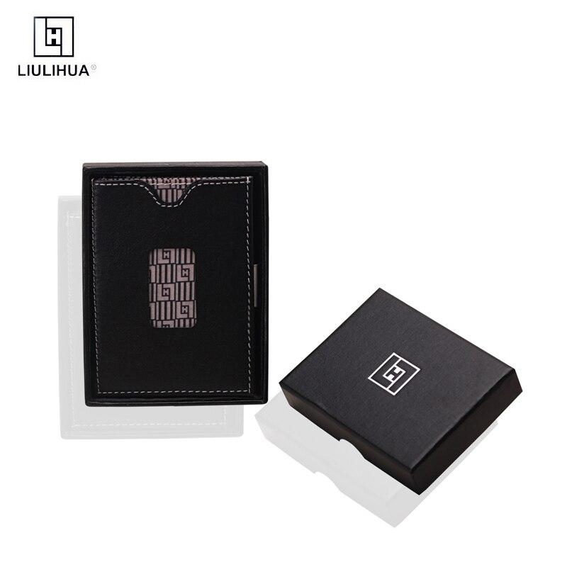 LLH nouvelle Promotion de haute qualité en cuir multifonction mode affaires porte-carte mini hommes portefeuille peau de vache mâle cadeau mince sac à main