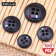 100pcs Solid Color Four Holes Buttons Handmade Convex Wooden Vertical Bar Stripe Fashion Trend Accessories 2019