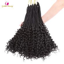 hot deal buy golden beauty curly senegalese twist hair crochet braids 14-16-18inch synthetic crochet hair extensions