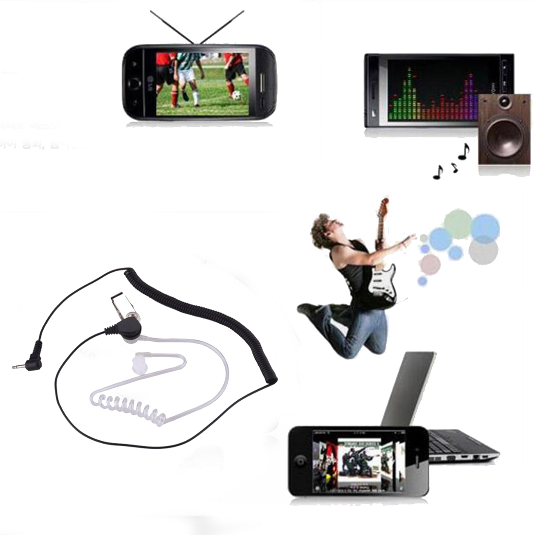 US $2 28 19% OFF|Marsnaska Hot 2 5mm Security Acoustic Tube Earpiece  Professional Headset Mic 1 Pin for Ham Radio Wholesale-in Earphones from  Consumer
