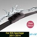 """Rascador para KIA Sportage (2011-2014) 24 """"+ 18"""" estándar fit J gancho limpiaparabrisas armas sólo HY-002"""