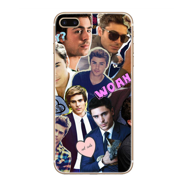 H362 Zac Efron Transparent Hard Thin Case Cover For Apple iPhone 4 4S 5 5S  SE 5C 6 6S 7 8 X Plus