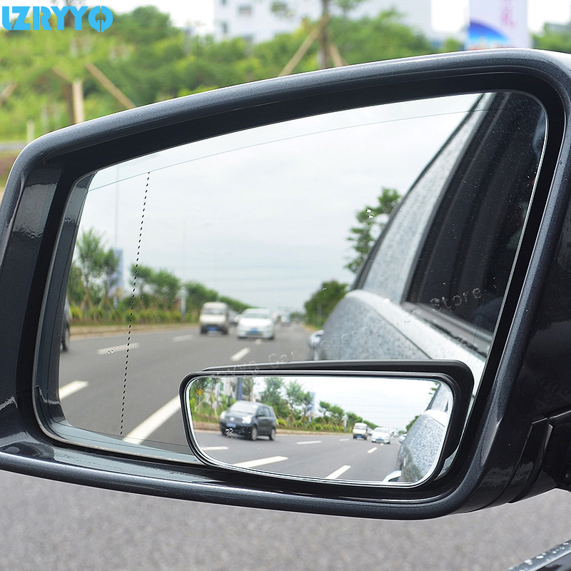 2 Pcs Auto Car Side Adjustable Rear View Auxiliary Blind Spot Wide Angle Mirror
