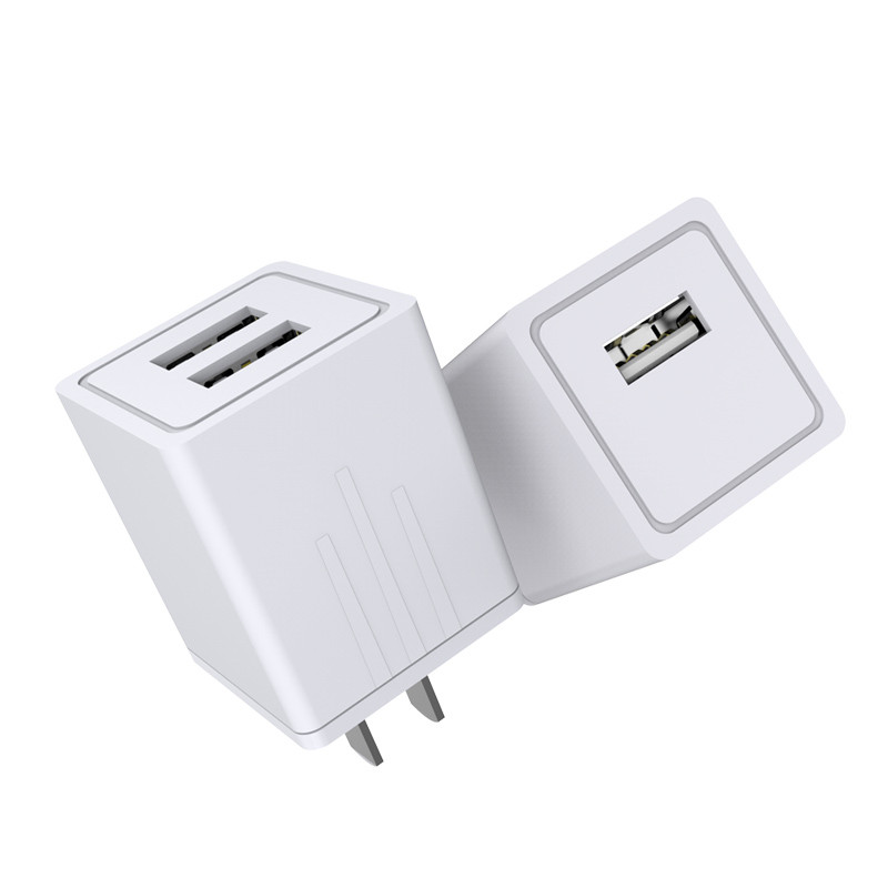 RandGrey-Phone-USB-Charger-5V-2-1A-Fast-Charger-EU-Travel-Charger-USB-Wall-Mobile-Phone