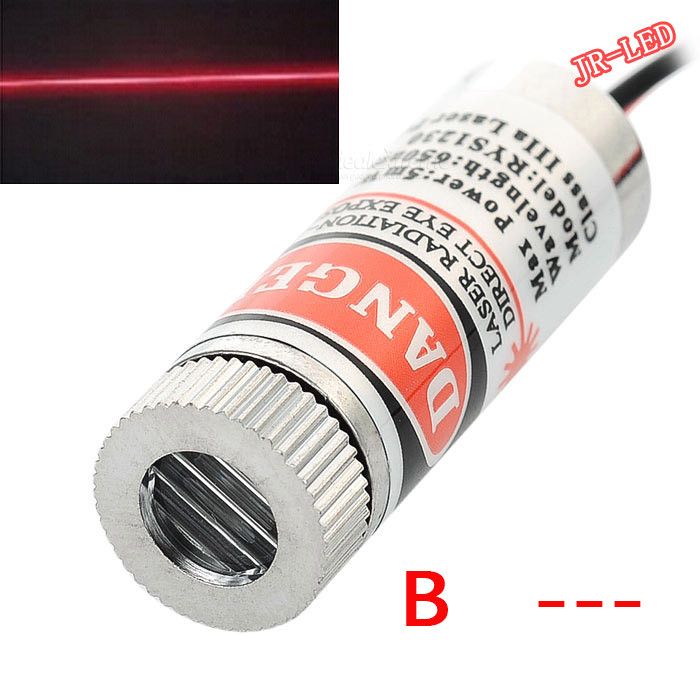 5pcs  5W 650nm Red Line Laser Module Focus Adjustable Laser Head 5V Industrial Grade laser head owx8060 owy8075 onp8170