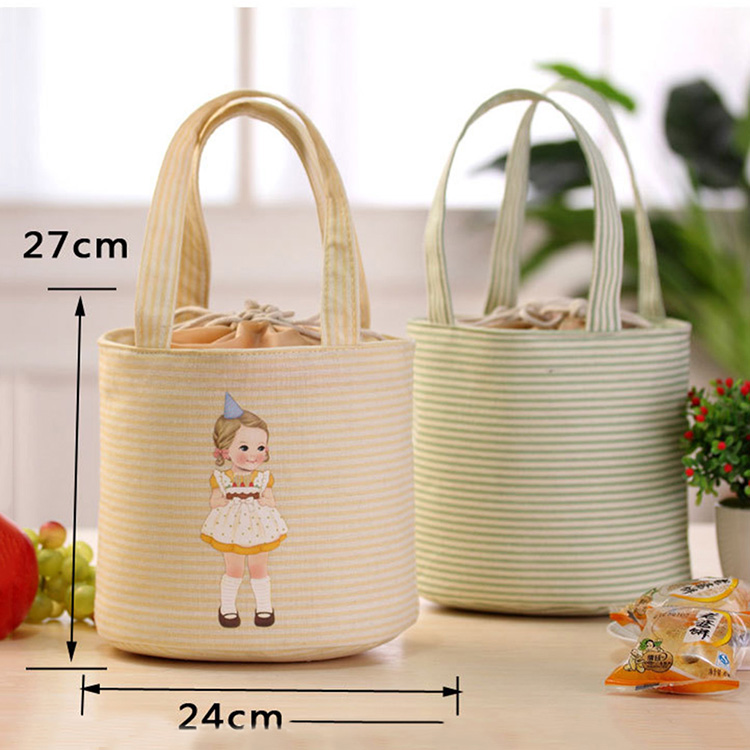 retail lunch bag bento pouch container thermal insulated cooler bag lunch box student tote. Black Bedroom Furniture Sets. Home Design Ideas