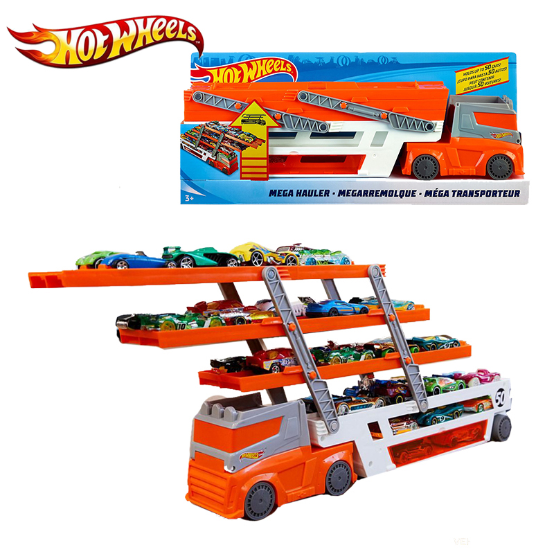 Hot Wheels Mega Hauler Track Toy Big Size Transporter Can Holds Up To 50 Cars Hotwheels Truck Toy Commemorative Edition Ftf68 #2