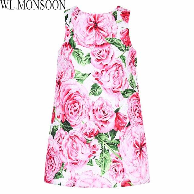 e781a3e25 Kids Dresses for Girls Clothes Rose Flower Princess Dress 2017 Brand ...