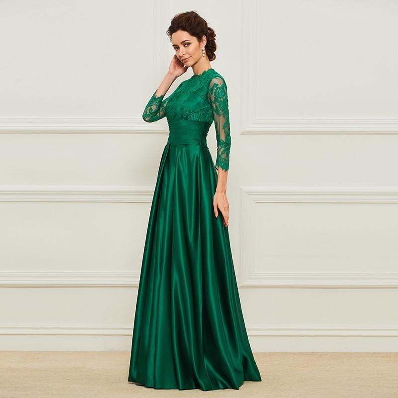 Dressv Green Mama lunga a rochiei de mireasa Fusta trei sferturi Lace - Rochii de seară de nuntă - Fotografie 2