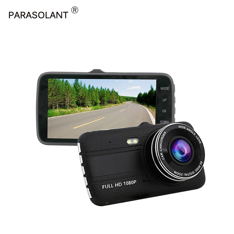 PARASOLANT Full HD 1080 P вождения Регистраторы Starlight Ночное видение 170 градусов широкоугольный Видеорегистраторы для автомобилей поддерживает 128 ГБ TF...