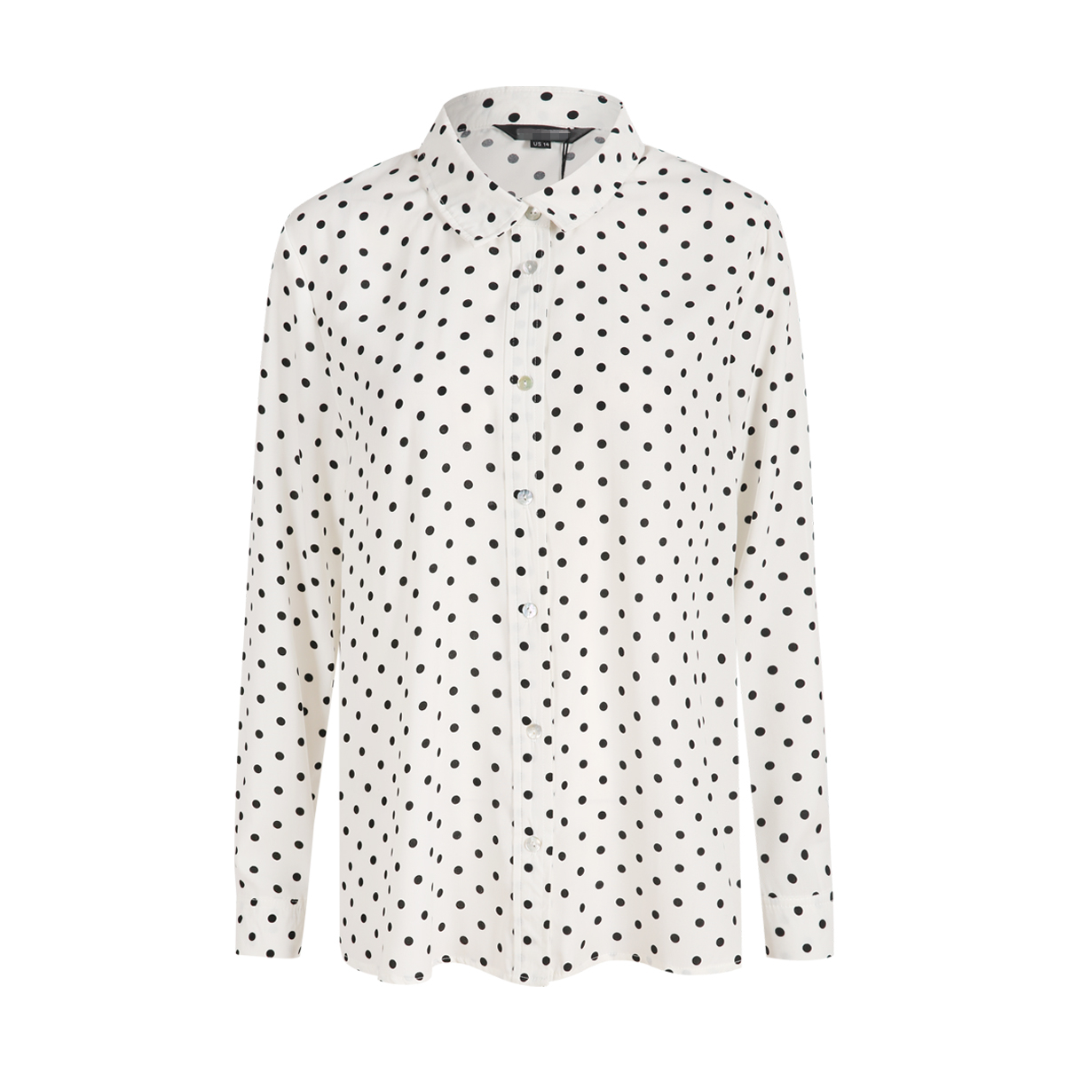 MCO New Basic Polka Dot Print Plus Size Women Blouse Casual Oversized Top Big Women Clothing Simple Spot Loose Shirt 5xl 6xl 7xl