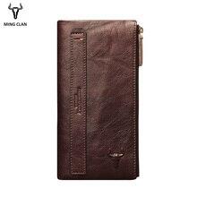 Mingclan жіночий гаманець довга жіноча зчеплення гаманця блискавки гаманець велика ємність стільниковий телефон власник карманних пані Гасп сумки браслет