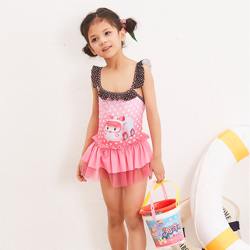 Child Swimwear Girl Sexy Bikini Kids Junior Girls Swimsuit Baby Clothes 2018 New Children Big 28058 Animal Polyester Sierra